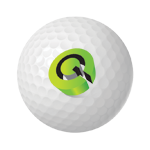 Golf Ball with Qypsys Logo on it